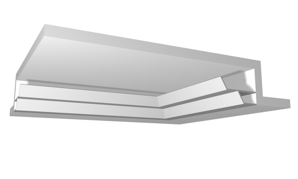 Sadrokartónová svetelná rampa pre nepriame osvetlenie